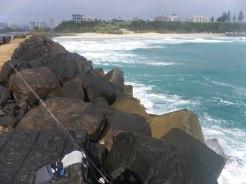 Tweed Rockwall north - the ocean side