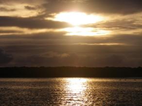 A threatening sunrise at Caloundra