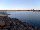 The rockwall by Port Augusta Wharf