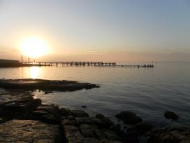 Sunrise over the Tuna pen