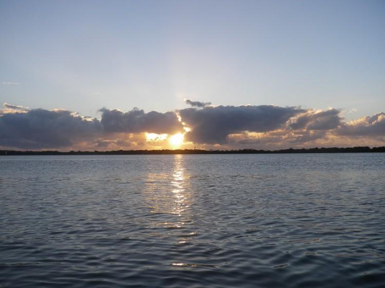 It was a fairly crisp sunrise on Thursday