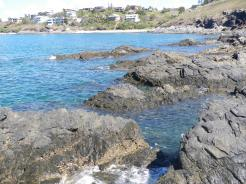 Lots of fishy structure at Rocky Point nr Emu Park