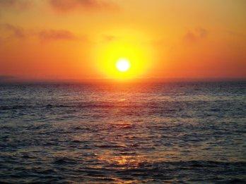 A stunning sunrise on a calm morning