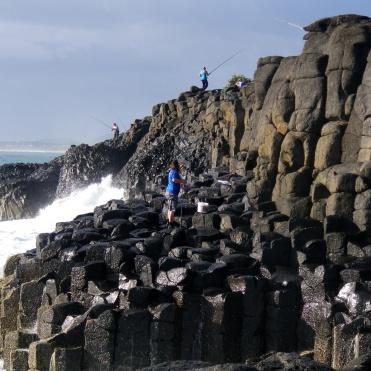 Fingal Head on Christmas Eve - plenty of fishermen