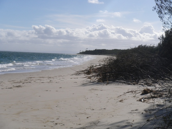 Bribie Island - Skirmish Point looking towards Red Beach