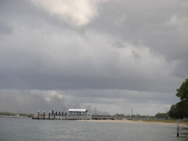 Ominous skys at Bongaree