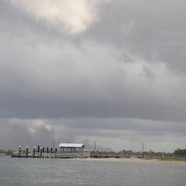 Ominous skys at Bongaree