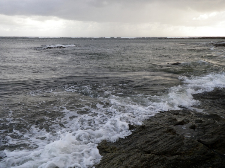 A grey morning on Woody bay