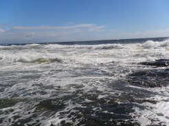 Too choppy out front