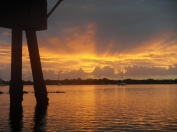 Bribie bridge sunrise