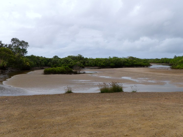 Back at the end of the road at low tide
