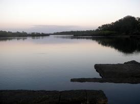 Baffle Creek rock bar - just before dawn