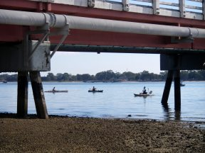 Nowhere to hide - kayaks boats fisherman - everywhere