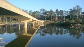 The bridge made a good platform