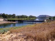 The weir on the Burnett River at Gayndah