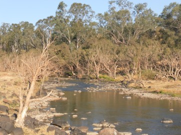Downstream from Bedford Weir