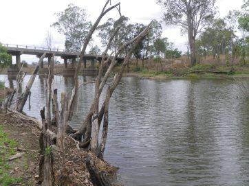 The bridge across Walily Creek