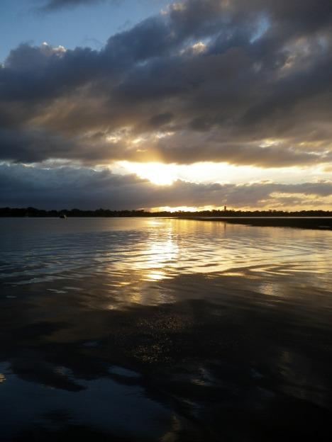 A low tide around sunrise