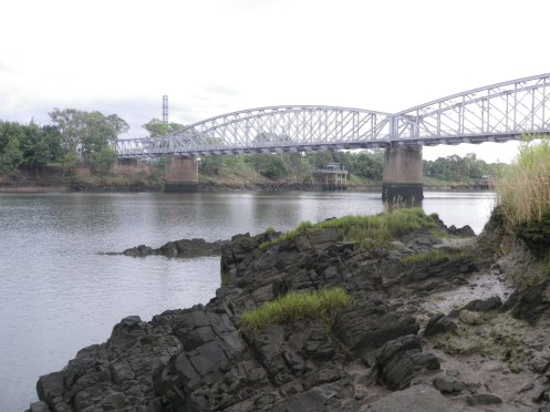 Run out tide on the north side of the Fitzroy