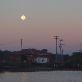 A bright moon