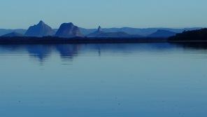 Pre-dawn Glasshouse Mountains