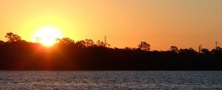Fishing at sunrise and sunset
