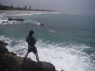 Cousin Jo hooked up at Fingal Head