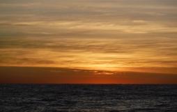 Sun was nearly over the horizon