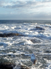 The sea was getting lively