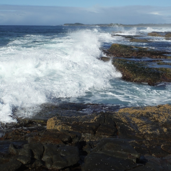 Tricky swell at Woody Head