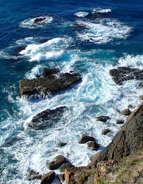The rocks off the headland