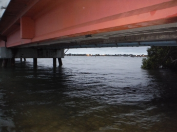 A grey morning under the Bribie Bridge