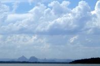 Cloudy Glasshouse Mountains