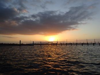 Sunrise on the jetty flats