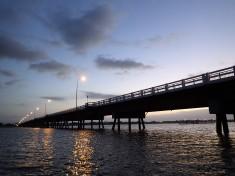 North of the bridge at Bribie